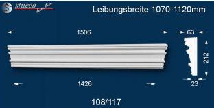 Fassadenstuck Tympanon gerade Frankfurt 108/117 1070-1120