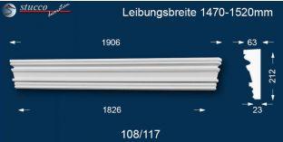 Fassadenstuck Tympanon gerade Frankfurt 108/117 1470-1520