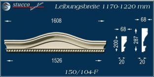 Fassadenelement Bogengiebel Verden 150/104F 1170-1220