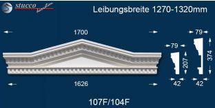 Fassadenstuck Tympanon Dreieckbekrönung Leipzig 107F/104F 1270-1320