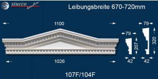 Fassadenstuck Dreieckbekrönung Leipzig 107F/104F 670-720