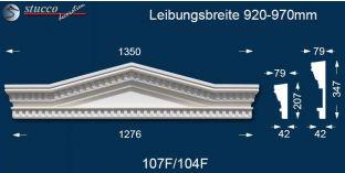 Aussenstuck Tympanon Dreieckbekrönung Leipzig 107F/104F 920-970
