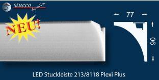 LED Stuckleiste Wandleiste für indirekte Beleuchtung Sölden 213 PLEXI PLUS