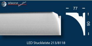 LED Stuckleiste Wandleiste für indirekte Beleuchtung Sölden 213