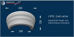Kapitell-Hälfte für Säule aus Hartschaum Styropor OFK 240/404