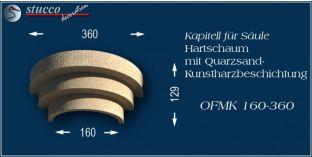 Kapitell-Hälfte für Säule mit Beschichtung OFMK 160/360