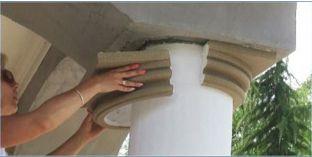 Kapitelle für Säulen mit Beschichtung