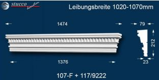 Stuck Fassade Tympanon gerade Leipzig 107F/117 1020-1070