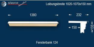 Komplette Fensterbank Erfurt 124 1020-1070-150