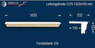 Komplette Fensterbank Altötting 124 1270-1320-150