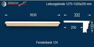 Komplette Fensterbank Creglingen 124 1270-1320-250