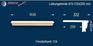 Komplette Fensterbank Düsseldorf 124 670-720-250