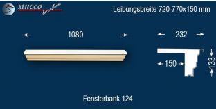 Komplette Fensterbank Frankfurt 124 720-770-150