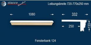 Komplette Fensterbank Düsseldorf 124 720-770-250