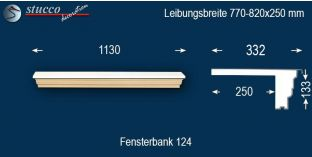 Komplette Fensterbank Osnabrück 124 770-820-250