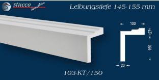 L-Profil für Laibung und Faschen Bangkok 103-KT 145-155 mm