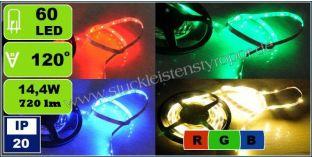 5050 SMD RGB LED Strips LED Streifen mit 60 LEDs/m 14,4 W/m IP 20