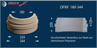 Säulenbasis-Hälfte mit Beschichtung OFKK 180/344