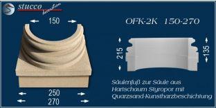 Säulensockel-Hälfte mit Beschichtung OFK-2K 150/270