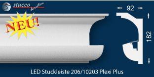 Stuckleisten für indirekte Beleuchtung Nürnberg 206 PLEXI PLUS