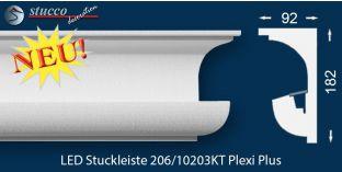 Vorhangleiste für indirekte Beleuchtung Nürnberg 206 PLEXI PLUS