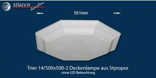 Trier 14-500x500-2 Deckenlampe ohne LED Beleuchtung
