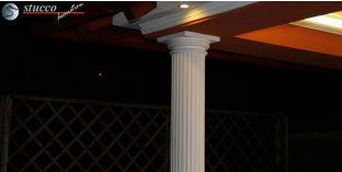 Dekosäulen-Viertel kanneliert mit Beschichtung OBK 200/236