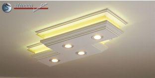 Einbaurahmen für LED Spot Einbauleuchte kippbar weiß