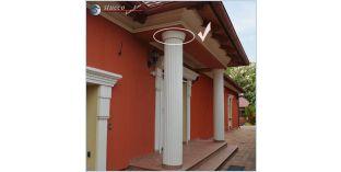 Fassaden Stuck flexible Zierleisten zu Styroporsäulen Ankara 108