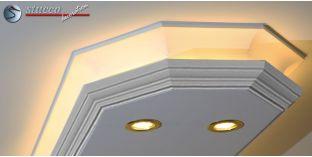 Stuckleiste für kombinierte Beleuchtung Essen 400+2x202