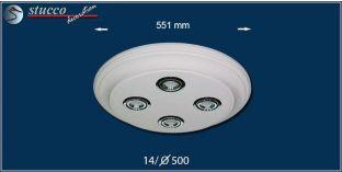 LED Deckenbeleuchtung Trier 14/500x500-3 Design Lampen mit Stuck und LED Spots