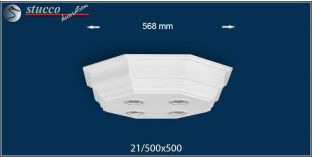 LED Stucklampe Düren 21/500x500-2 Design Lampen mit Stuck und LED Spot