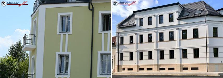 3 + 1 Ideen für eine moderne Hausfassade mit Styropor Fassadenstuck
