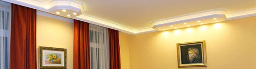 Kombi Stuckleisten für direkte und indirekte Beleuchtung