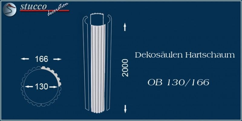Kanneliertes Säulenschaft-Viertel OB 130/166