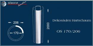 Dekosäulen-Viertel Hartschaum OS 170/206