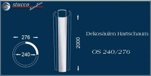 Dekosäulen-Viertel Hartschaum OS 250/286