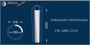 Dekosäulen-Viertel Hartschaum OS 280/316