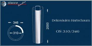 Dekosäulen-Viertel Hartschaum OS 310/346