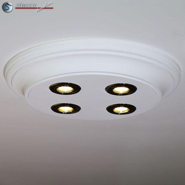 LED Deckenbeleuchtung Trier 14/500x500-3 Design Lampen mit Stuck und ...