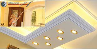 Stuckprofil für direkte und indirekte Beleuchtung Essen 270+2x202 PLEXI PLUS