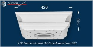 LED Sternenhimmel LED Stucklampe Essen 202