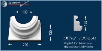 Dorischer Säulenfuß mit geschwungenem Stuckprofil OFK-2 130/250