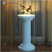 Dekosäule Hartschaum ODM 340/667 mit eingeschalteter LED Beleuchtung