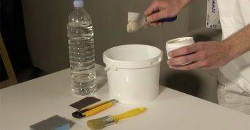 Beschichtungsmasse für Fassadenprofile mit Wasser verdünnen