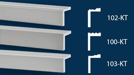 Beispiele für L-förmige Laibungsverkleidungsprofile