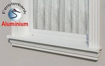 Komplette Außenfensterbänke mit Aluminum-Abdeckung