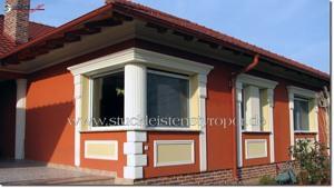 Stuck außen für abwechslungsreich verzierte Hausfassade