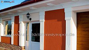 Fassadenverzierung mit Außenstuck