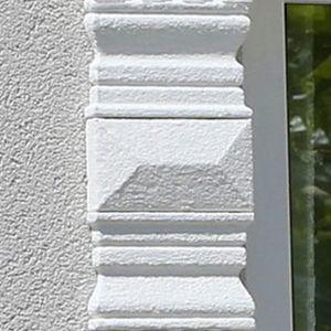 Beschichtete Fassadenprofil Zierelemente Marcus 100-K2 und Avitus DT-3